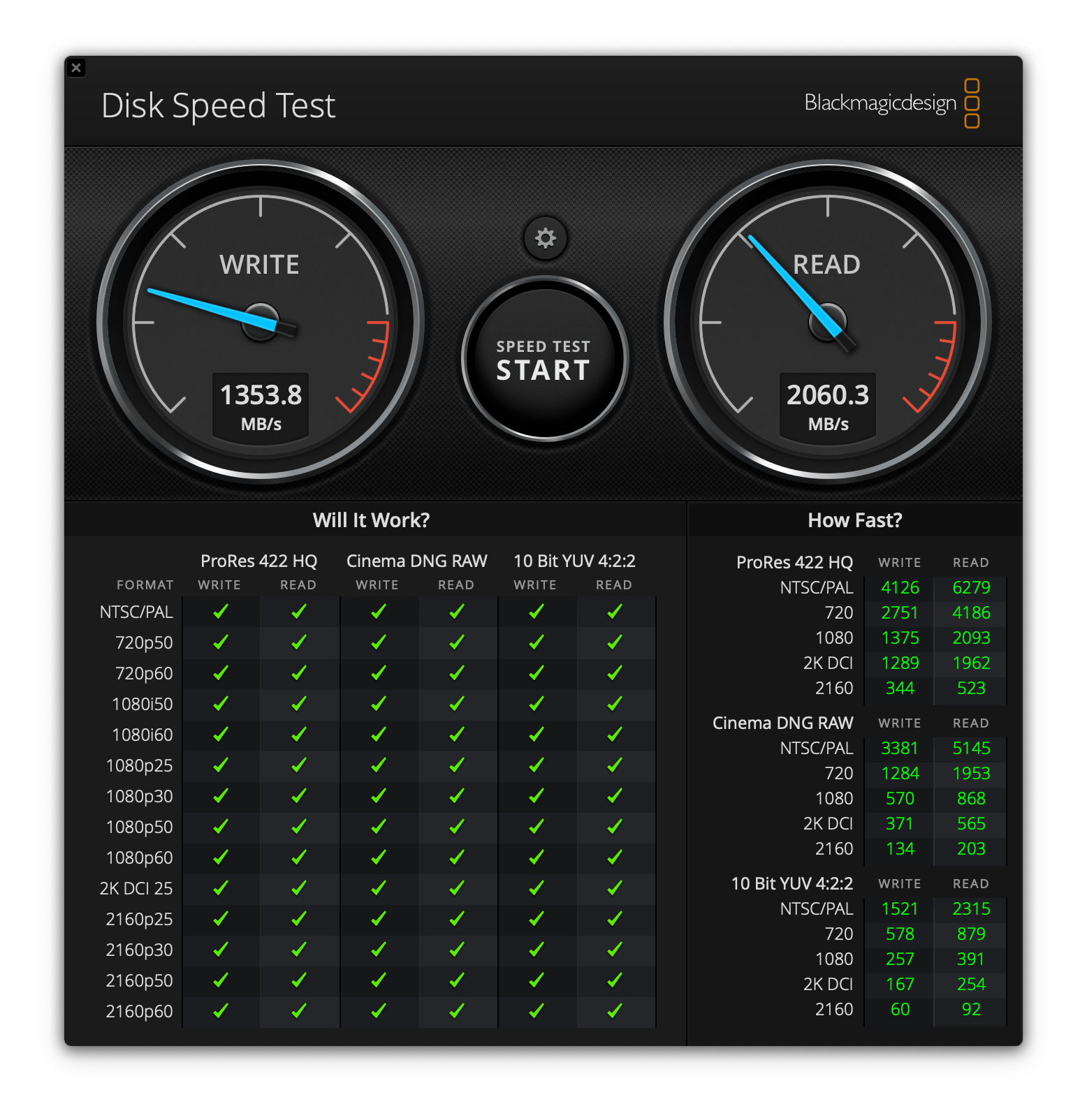 Benchmark Results Black Magic MacBook Pro Late 2018 NVME